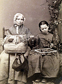 Mrs Hoddle of Olney and her daughter Elizabeth, circa 1865