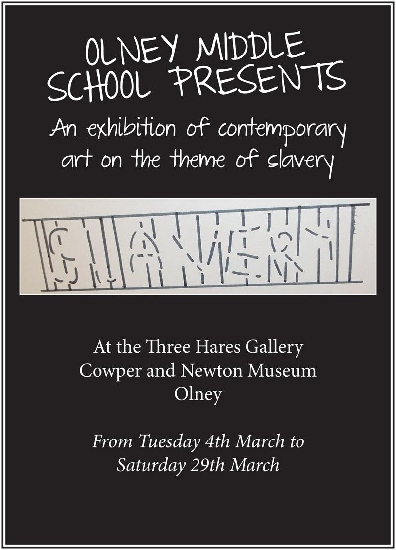Olney Middle School - Slavery exhibition