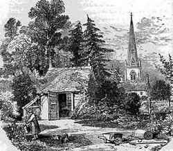 An engraving of Cowper's summerhouse 250