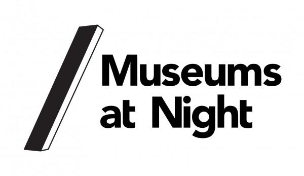 Museums at Night Logo - White RGB